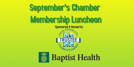 September Chamber Membership Luncheon tickets