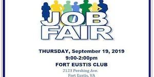 JBLE Job Fair - Fort Eustis -  September 19 2019