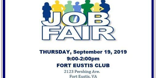 JBLE Job Fair - Fort Eustis -  September 19 2019