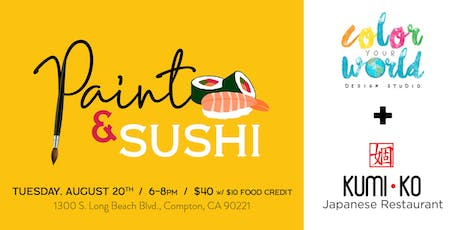 Paint & Sushi | August 20th tickets