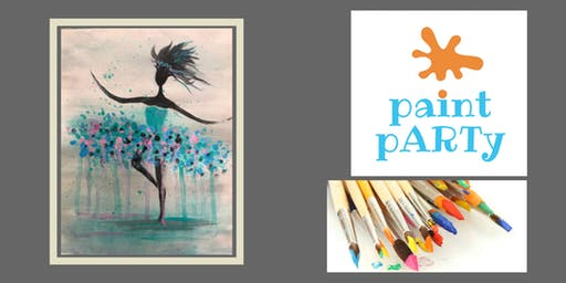 Paint'N'Sip Canvas - Dancing Lady - $35pp
