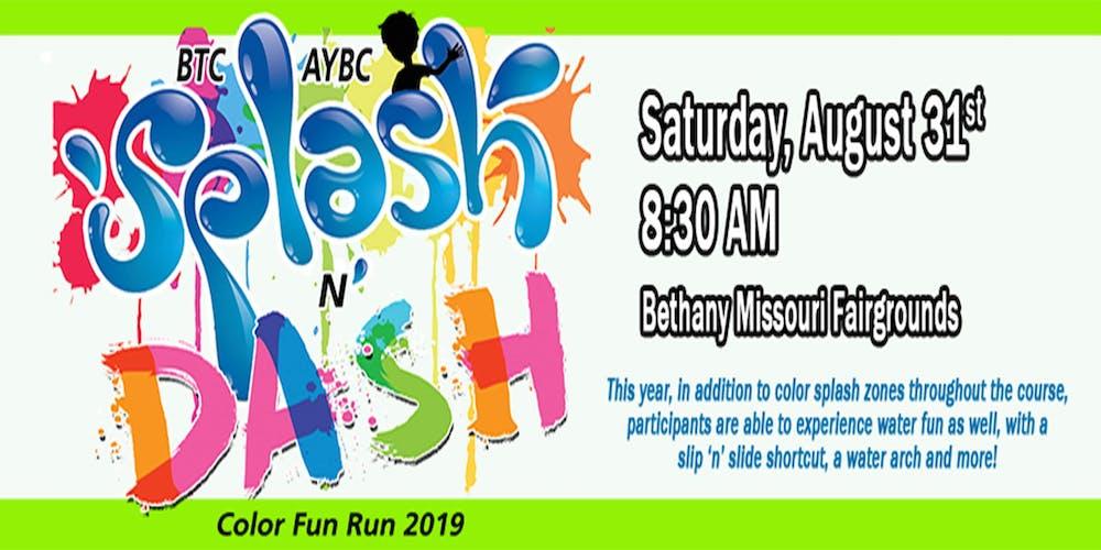 Btc Aybc Splash N Dash Color Fun Run 2019 Registration Sat Aug 31