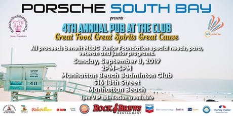 PUB AT THE CLUB 4th Annual Benefit for MBBC Junior Foundation Programs tickets