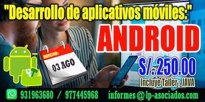 Desarrollo de aplicativos móviles con ANDROID STUDIO
