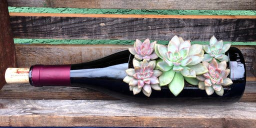 Sips and Succs-Wine Bottle or Cork Arrangement