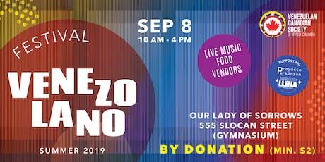 2019 Venezuelan Festival tickets