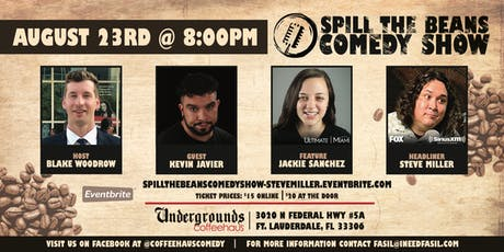 Spill the Beans Stand Up Comedy Show- Steve Miller (FOX & SiriusXM) tickets