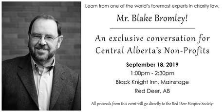 A Conversation with Blake Bromley for Red Deer's Non-Profit Sector  tickets