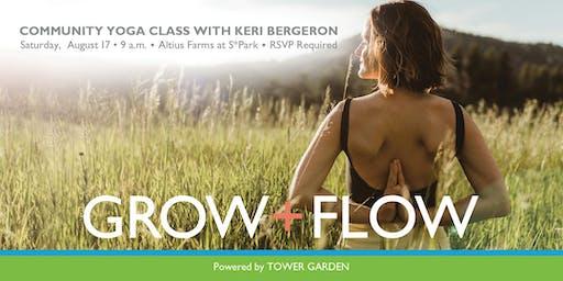Grow + Flow Altius Farms Community Yoga Class