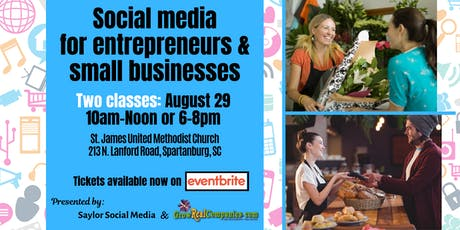 Social media for entrepreneurs and small businesses tickets