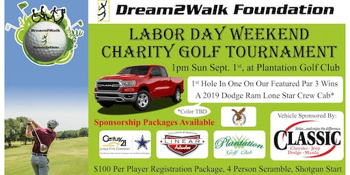 Dream2Walk's 2019 Annual Labor Day Weekend Golf Tournament Sept. 1, 2019