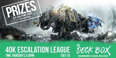 Warhammer: 40K Escalation League 750 points tickets