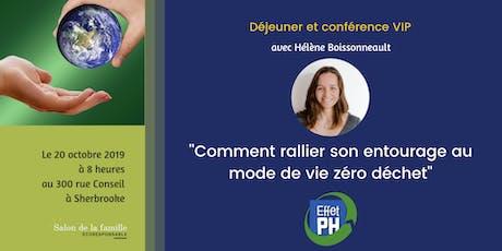 """Conférence: """"Comment rallier son entourage au mode de vie zéro déchet'' avec Hélène Boissonneault tickets"""