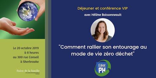 """Conférence: """"Comment rallier son entourage au mode de vie zéro déchet'' avec Hélène Boissonneault"""