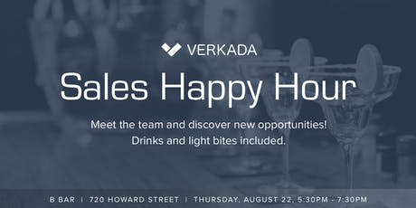 Verkada Sales Happy Hour tickets