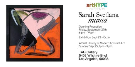 artHYPE Presents Sarah Svetlana at TAG Gallery tickets