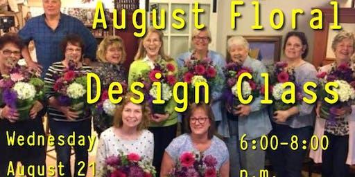 August Floral Design Class