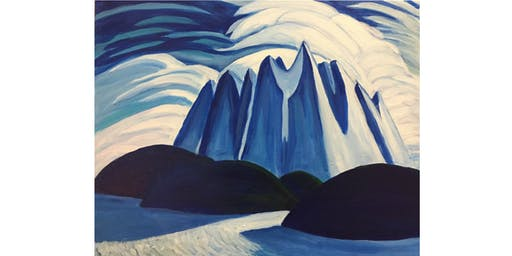 Mountains and Lakes by Lawren Harris - Paint & Sip Night - Snacks Included