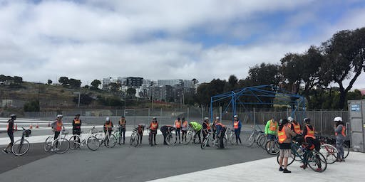 SF Bicycle Coalition Adult and Family Learn to Ride Class