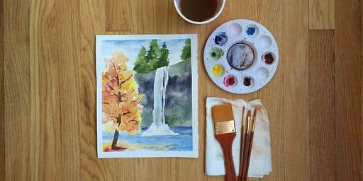 Watercolors Made Easy: Silver Falls in Autumn