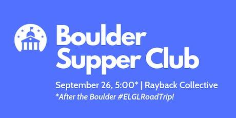 Boulder Supper Club tickets