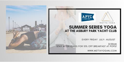 Yoga at Asbury Park Yacht Club- Summer Series