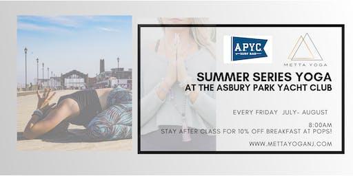Yoga at Asbury Park Yacht Club- Summer Series