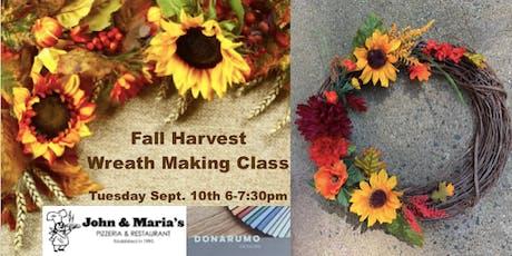 Fall Harvest Wreath Making Class tickets