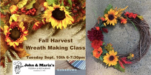 Fall Harvest Wreath Making Class