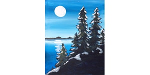 Winter In The Woods Paint & Sip Night - Wine, Beer...