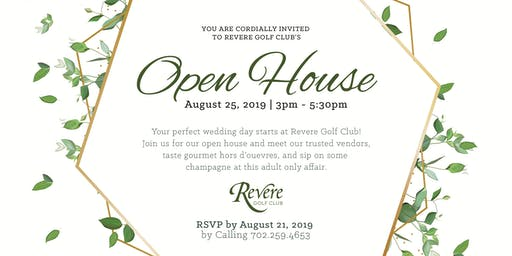 The Revere Golf Club Wedding Open House