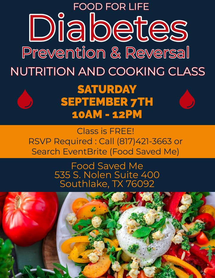 FREE Nutrition Class: Diabetes Prevention & Reversal