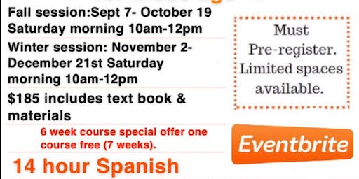 Introduction To Spanish Winter Session 7 wk course