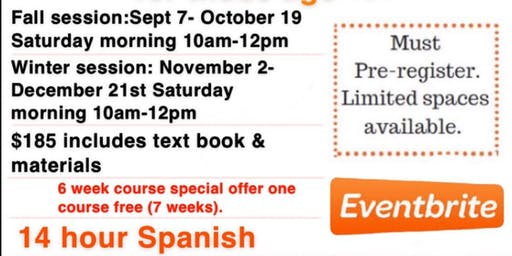 Introduction To Spanish Summer Session 7 wk course
