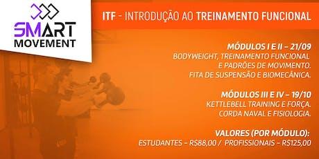 INTRODUÇÃO AO TREINAMENTO FUNCIONAL - ITF - DF ingressos