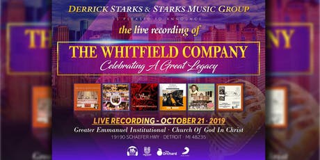 The Whitfield Company LIVE Recording tickets