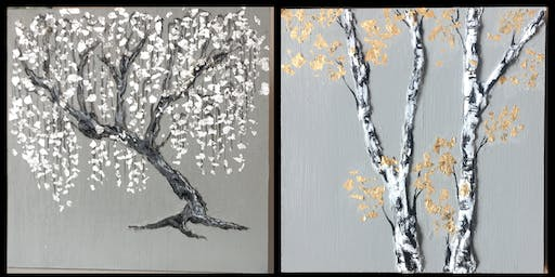 Mixed Media Tree Painting Class