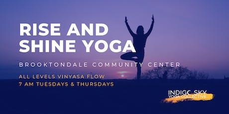 Rise & Shine Yoga - Brooktondale tickets
