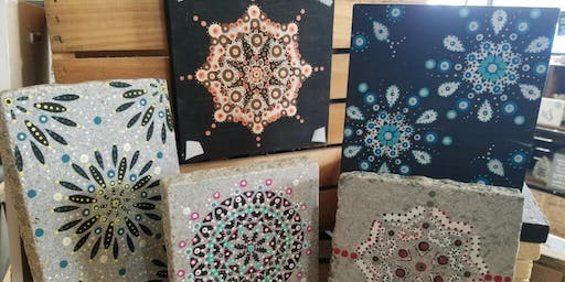 SOLD OUT...Thank you!  Mandala Making Class at Stone & Pallet™ Two for $30!
