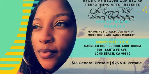 F.O.P.A.P Performing Arts Presents An Evening With Donna Cunningham