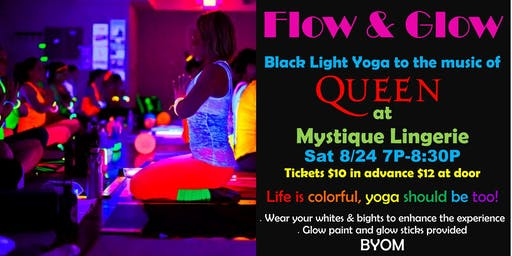 Flow and Glow Yoga Black Light Yoga