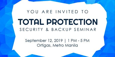 Total Protection: Security & Backup Seminar tickets