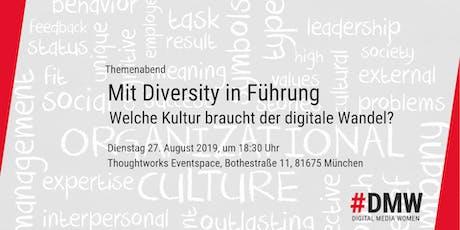Mit Diversity in Führung - Welche Kultur braucht der digitale Wandel? Tickets