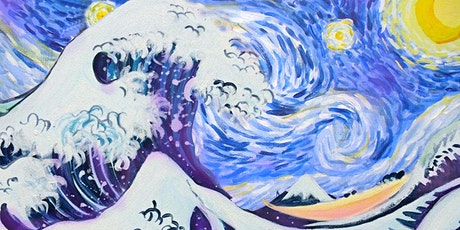 Online Party - Paint Starry Night Over The Great Wave! tickets