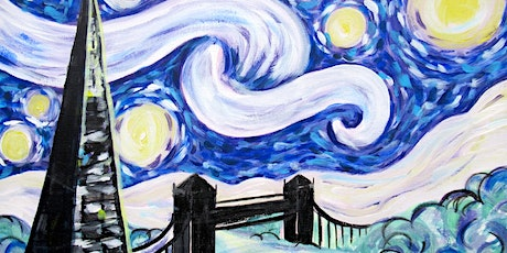 Paint Starry Night Over London! + Wine & Food! tickets