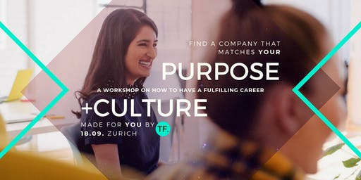 Culture Purpose Match - find your perfect company (workshop)