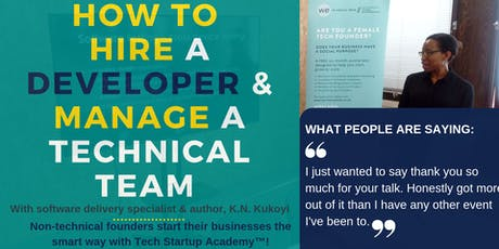 How to Hire a Developer & Manage a Technical Team tickets