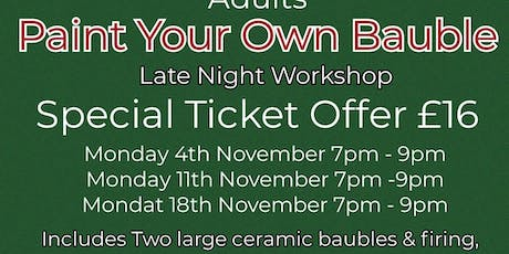 Paint Your Own Bauble - Adults Workshop tickets