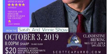 Scott Capurro at The Clandestine in San Jose! tickets