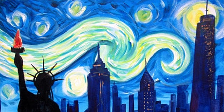 Online Party - Paint Starry Night Over New York! tickets